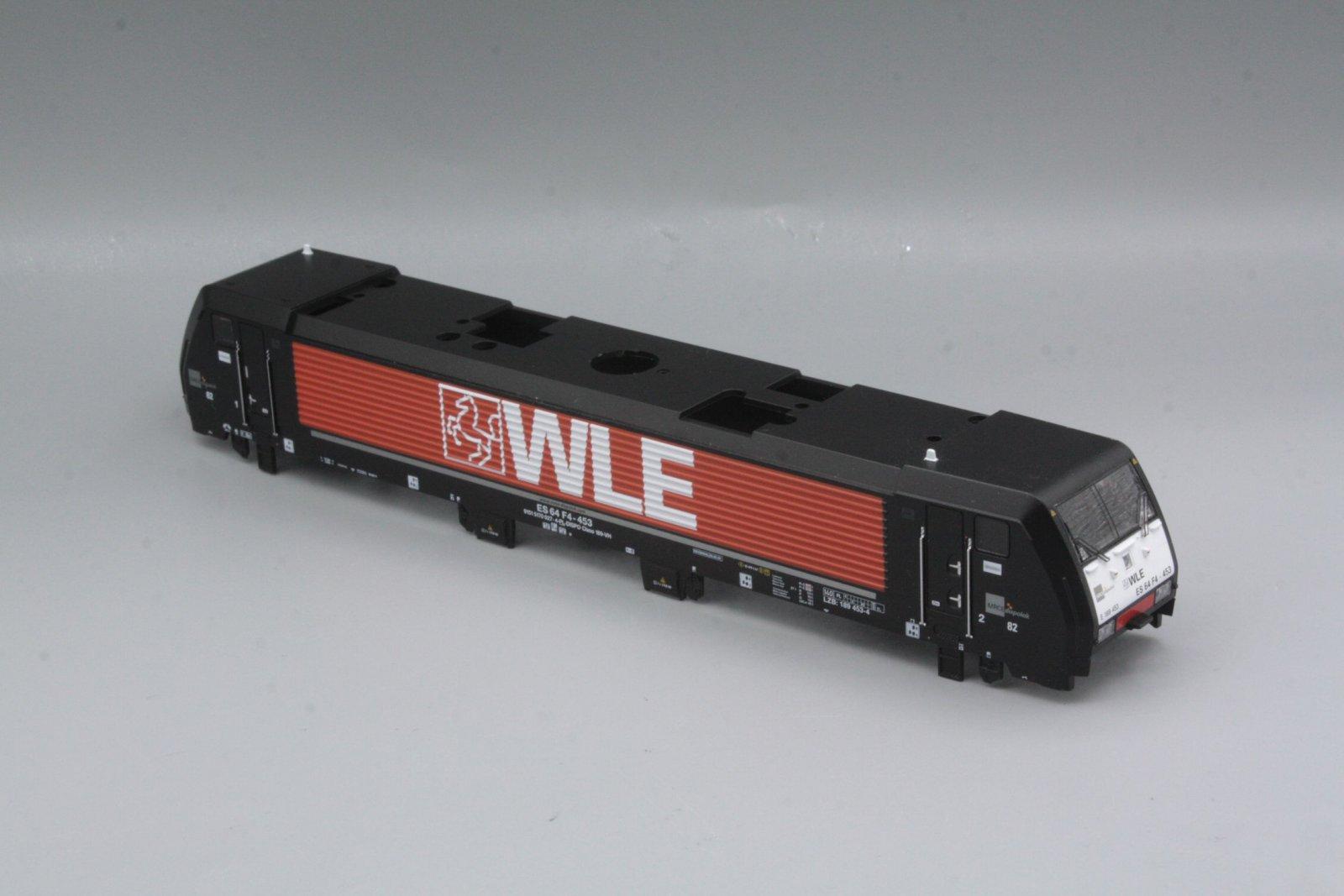 Ersatzteil Piko 189 Gehäuse WLE schwarz / orange  MRCE Dispolok