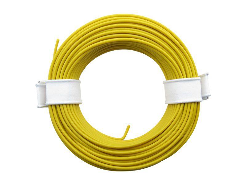 (0,13 €/m) 10 m Litze gelb 0,14 mm² Kupferlitze Schaltlitze Kabel