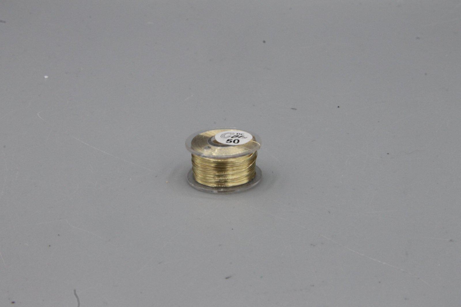 50 m Kupferlackdraht  gold 0,15 mm Lackdraht Cu-Draht auf 50m-Spule