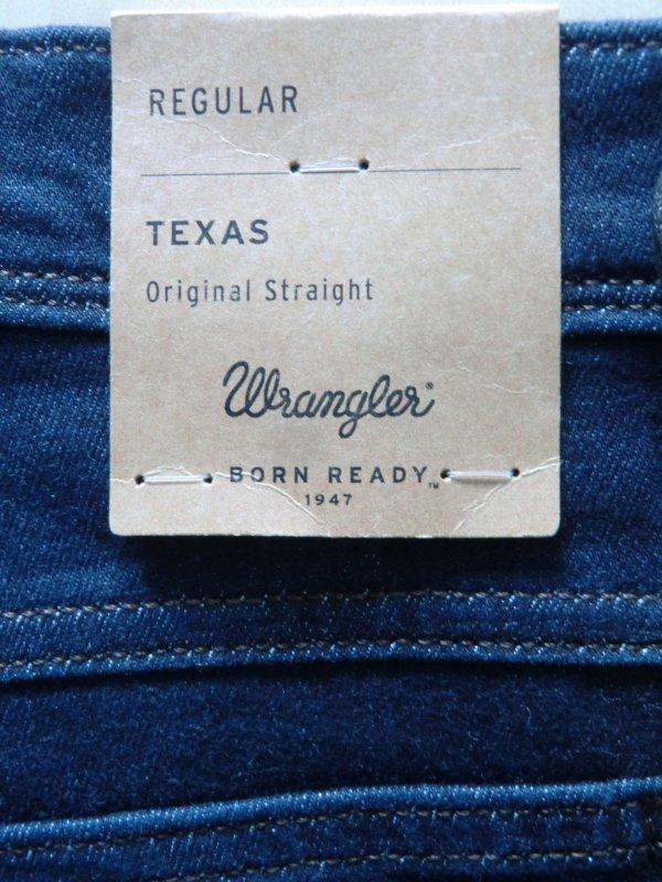 Wrangler Texas Stretch Regular Herren Jeans Dark Blend L34 Hose W121MU98S