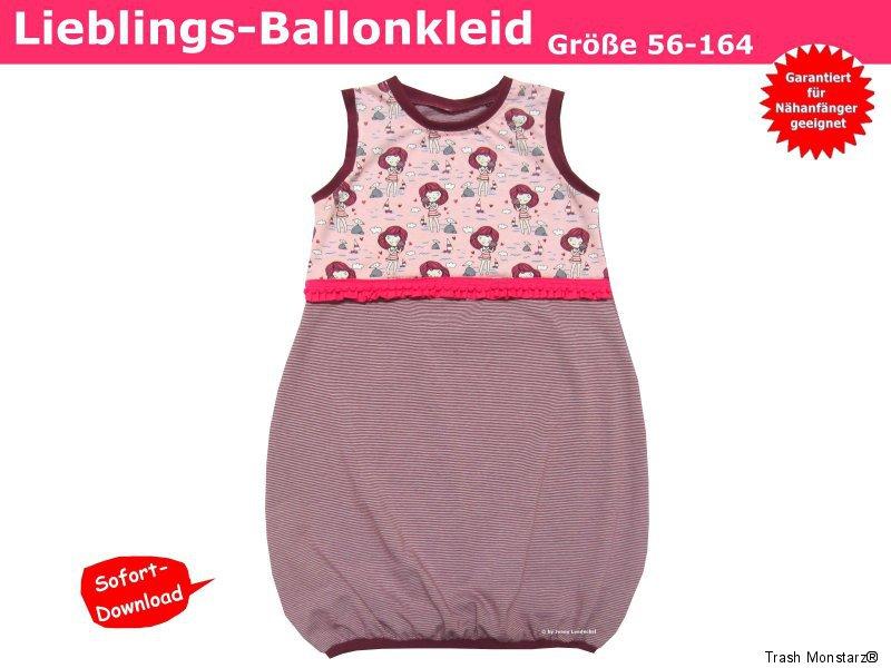 Schnittmuster & Nähanleitung Lieblings-Ballonkleid/ Kinderkleid | eBay