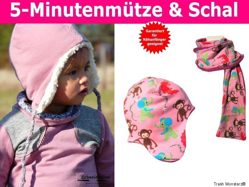 5 Minuten-Mütze und Schal selber nähen, Nähanleitung und ...