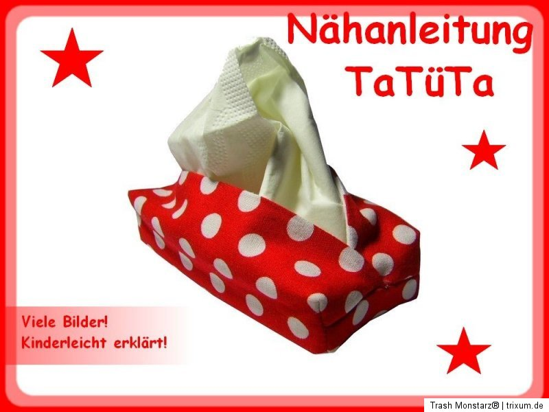 Nähanleitung Taschentüchertasche,TaTüTa nähen, für Anfänger | eBay