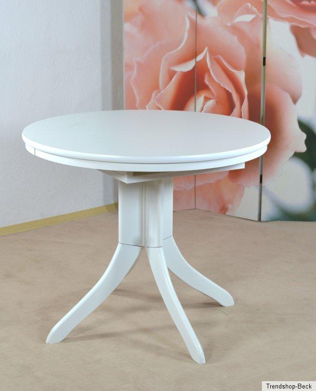 tisch ausziehbar rund esstisch k chentisch esszimmertisch wohnzimmertisch wei ebay. Black Bedroom Furniture Sets. Home Design Ideas
