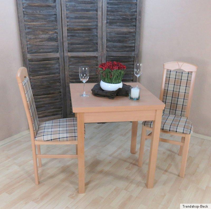Essgruppe 3 Tlg Esstisch Ausziehbar Stühle Tisch Farbe