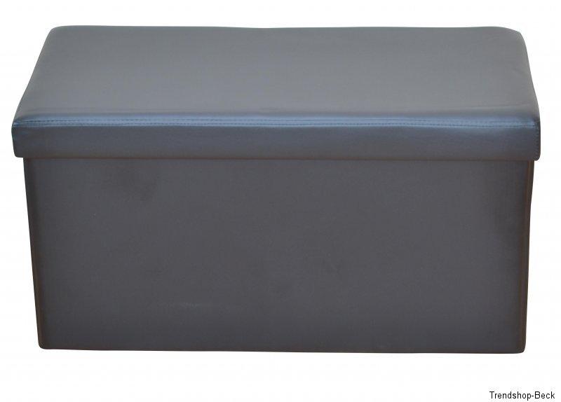 sitzbank mit polster sitztruhe truhe bank hocker truhenbank aufbewahrungsbox ebay. Black Bedroom Furniture Sets. Home Design Ideas