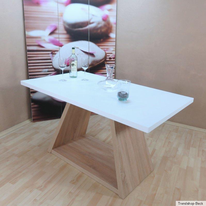Küchentisch Sonoma Eiche: Esstisch Esszimmertisch Säulentisch Tisch Küchentisch