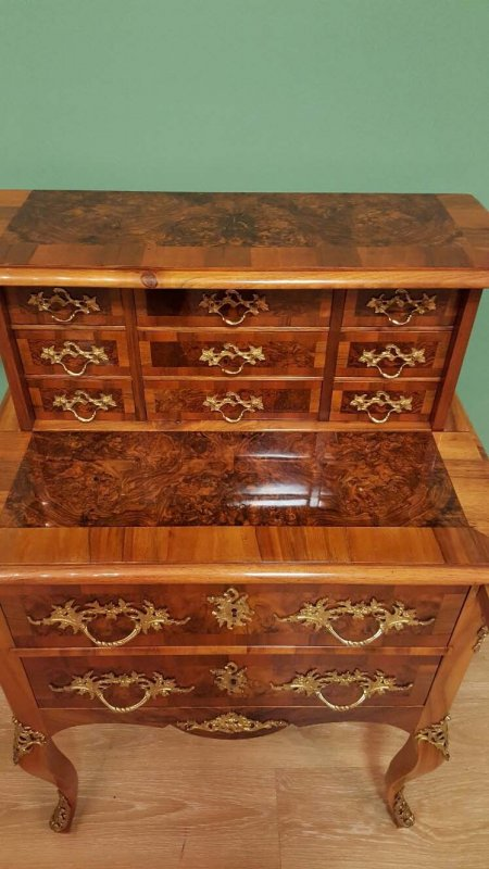 dresden barock kabinett sekret r nussbaum um 1860 ebay. Black Bedroom Furniture Sets. Home Design Ideas