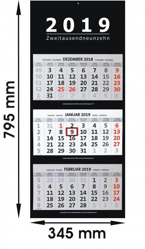 wandkalender 2019 groß