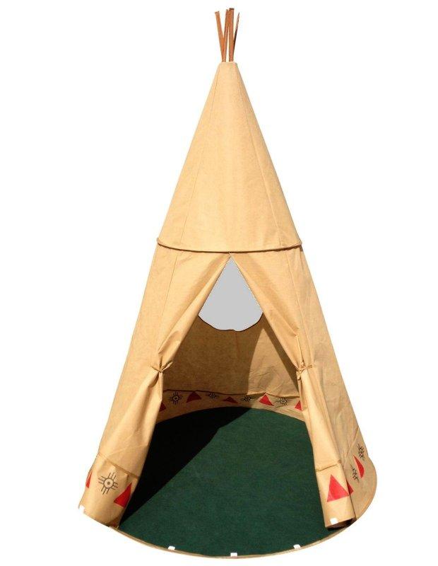 XXL Tipi für Kinder 190cm groß Wigwam Indianer Zelt Pop up Zelt ...