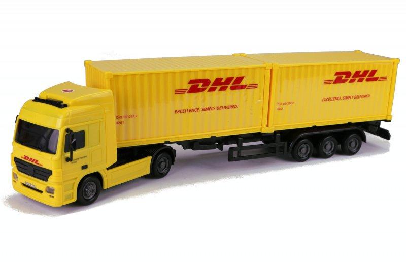 Lkw Mit 2 Container Deutsche Post Dhl Sattelzug Fracht Lastzug