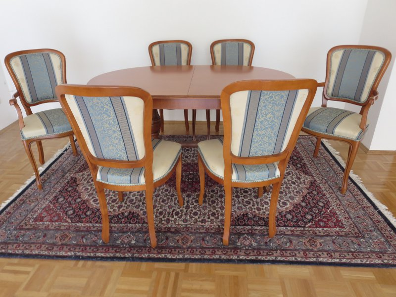 esstisch mit 6 st hlen epoca stilm bel ebay. Black Bedroom Furniture Sets. Home Design Ideas