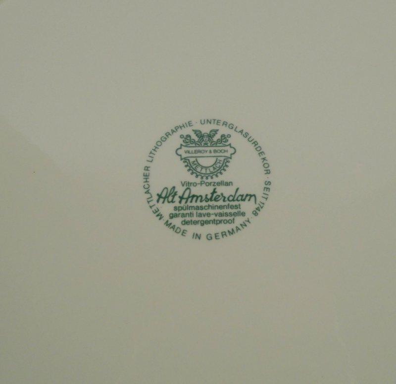 Villeroy /& Boch Mettlach Alt Amsterdam Kuchenteller Dm 21 cm Vitro Porzellan V/&B