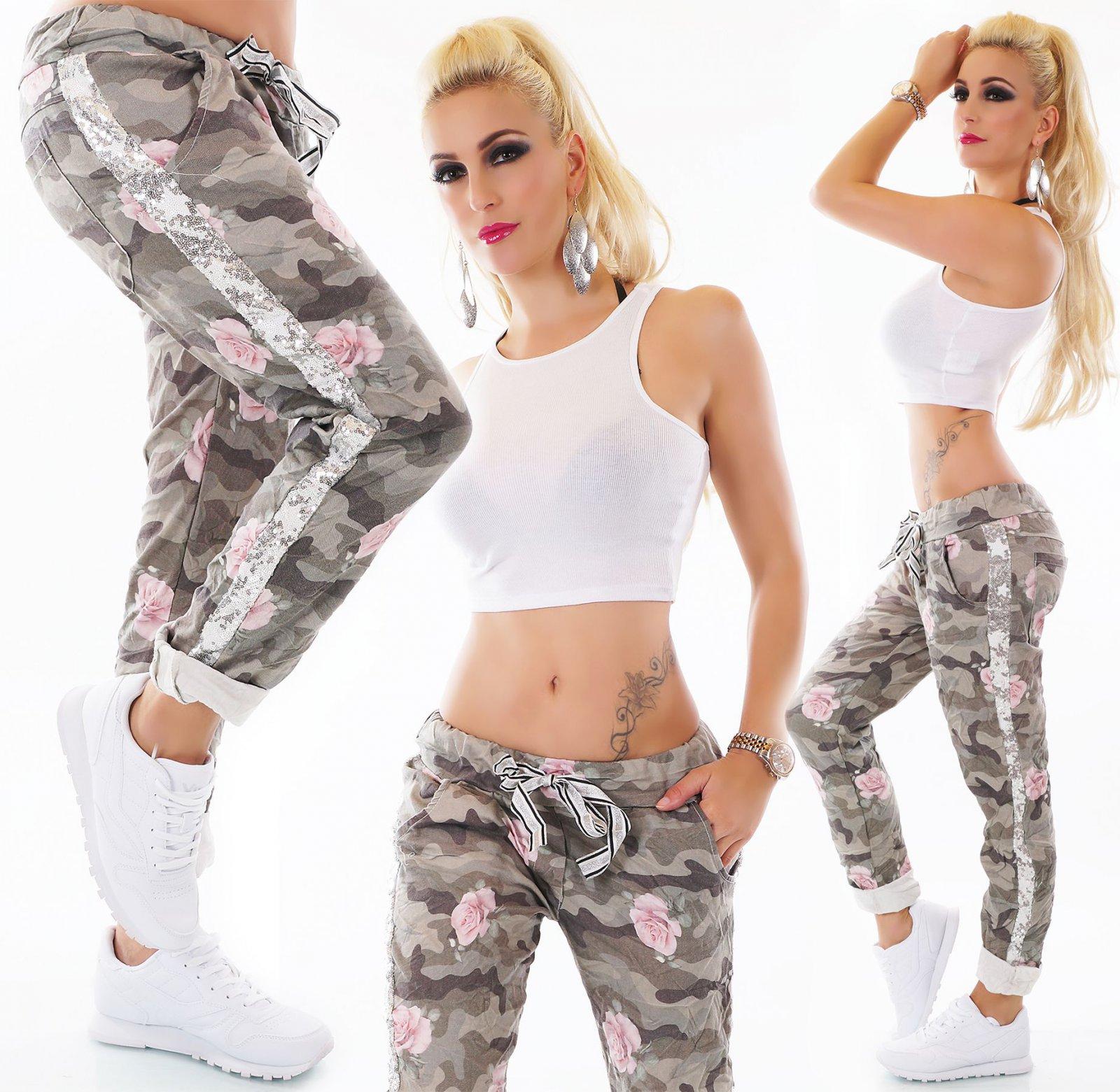 Details Sequins Trousers Boyfriend Womens Camouflage Original Flower 40 Title Show Jeans Baggy About 36 Italy Pants T1KlJc3F