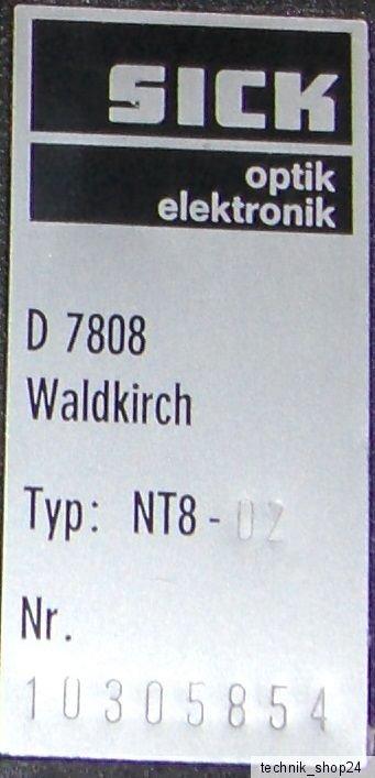 Sick Optik Elektronik D7808 NT8-02  Contrast Scanner Sensor NT802
