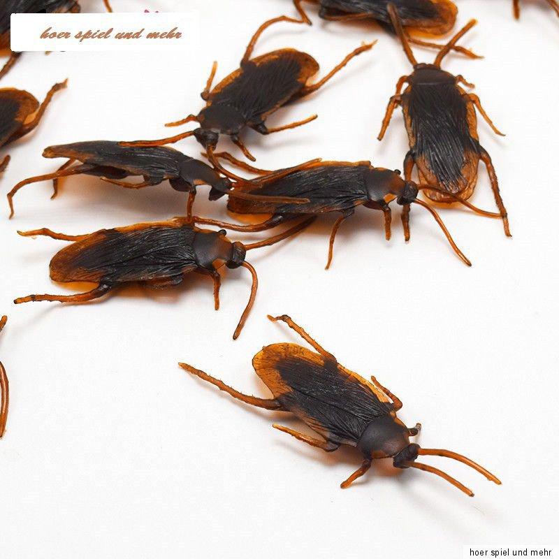6 Kakerlaken zur Halloween Dekoration Scherzartikel Spaß Deko Dekoration Grusel