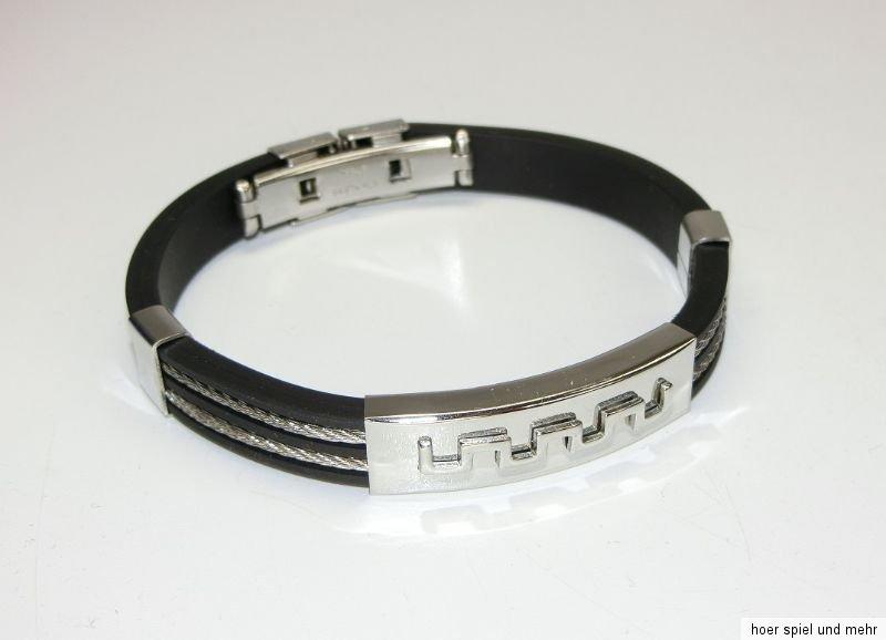 Leder Armband Armreif Männer Premium Qualität Schmuck Mode  Geschenk Seilkette