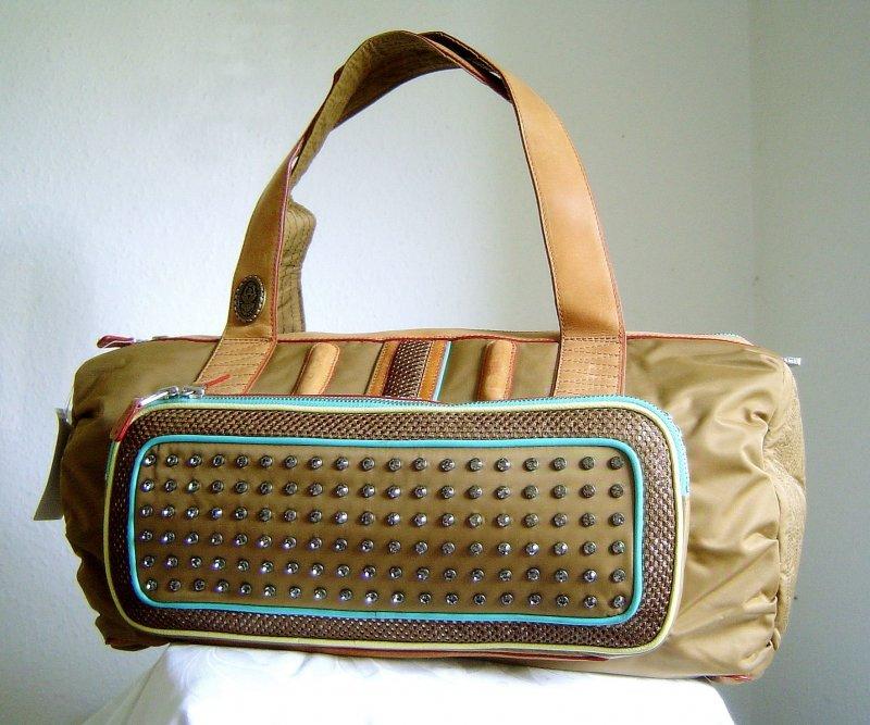konplott handtasche shopper bag jukebox farbe braun kupfer ebay. Black Bedroom Furniture Sets. Home Design Ideas