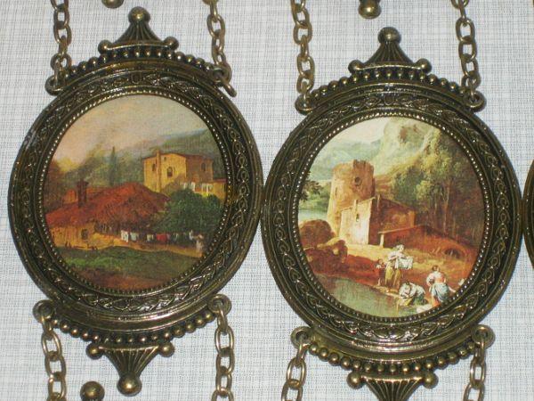 3 Bilderrahmen Kettenbilder Nostalgie Rahmen Italy 35cm Bilder wechselbar
