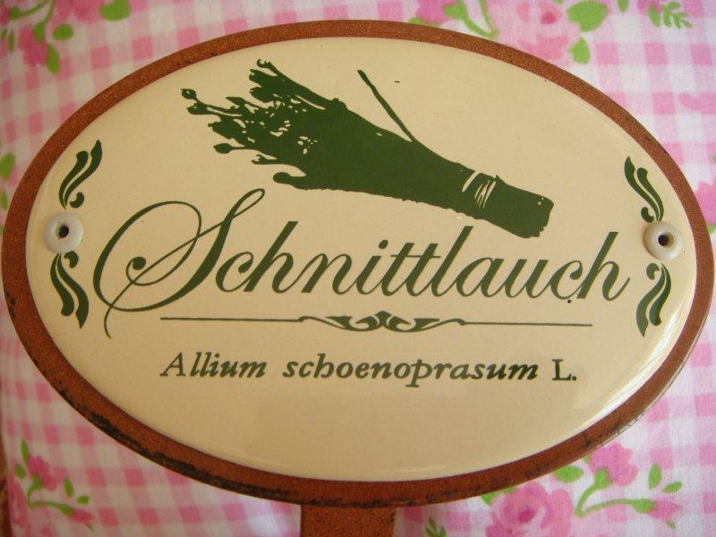 Erdspieß 25 cm Kräuterschild Kräuterstecker Emaille Bärlauch