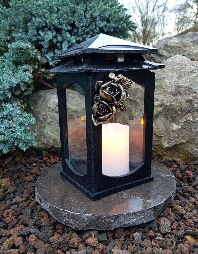 *Grablaterne  Grablampe Grableuchte Grablicht  Kerze Engel Grabschmuck