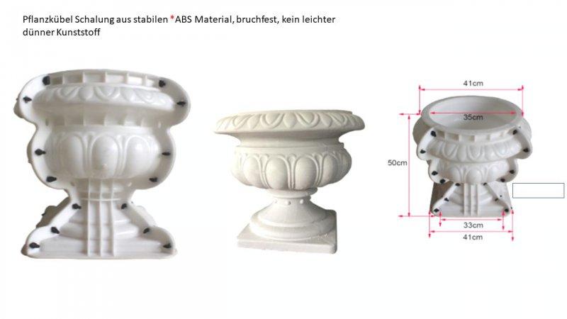 Gießform Betonform Schalungsform Abform Amphore Blumentopf 50x41cm Milano