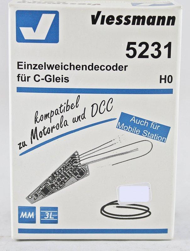Einzelweichendecoder für C-GleisH0 Viessmann 5231