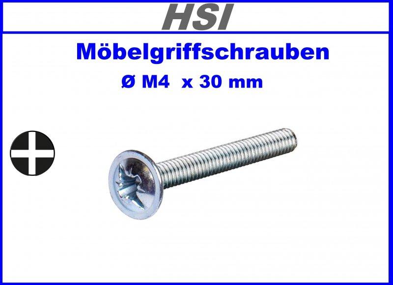 Knöpfe  M4 x 16 mm Möbel-Griffschrauben für Griffe Menge wählbar