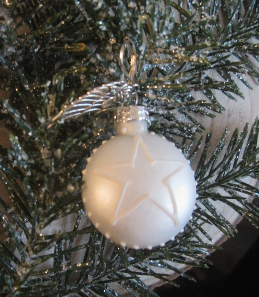 Earrings ★herz Christbaumkugel Weihnachtsohrring Mit Schutz Engels Flügel Und Brisur 3cm
