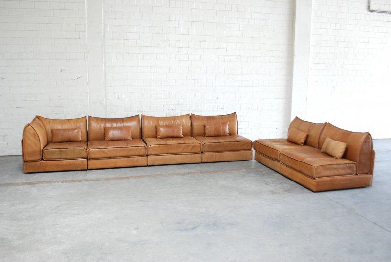 De Sede Ds 19 Sofa Vintage Modul Wohnlandschaft Cognac Ledersofa 6x