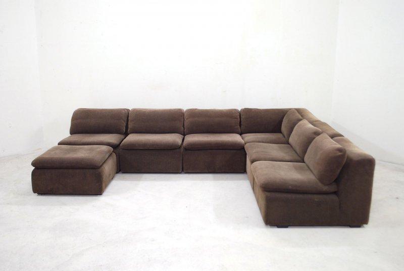 Cor vintage modul wohnlandschaft 70er sofa braun trio ra for Sofa 70er stil