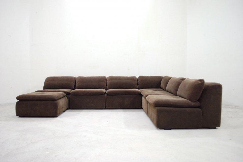 Cor vintage modul wohnlandschaft 70er sofa braun trio ra for Wohnlandschaft retro