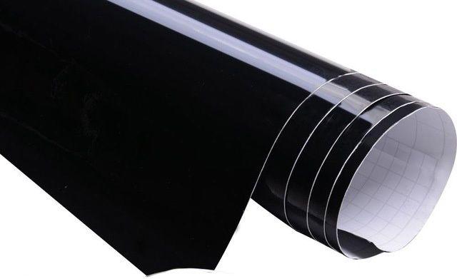 21 00 m auto folie schwarz hochglanz glanz klebefolie selbstklebend m bel ebay - Folie zum mobel bekleben ...