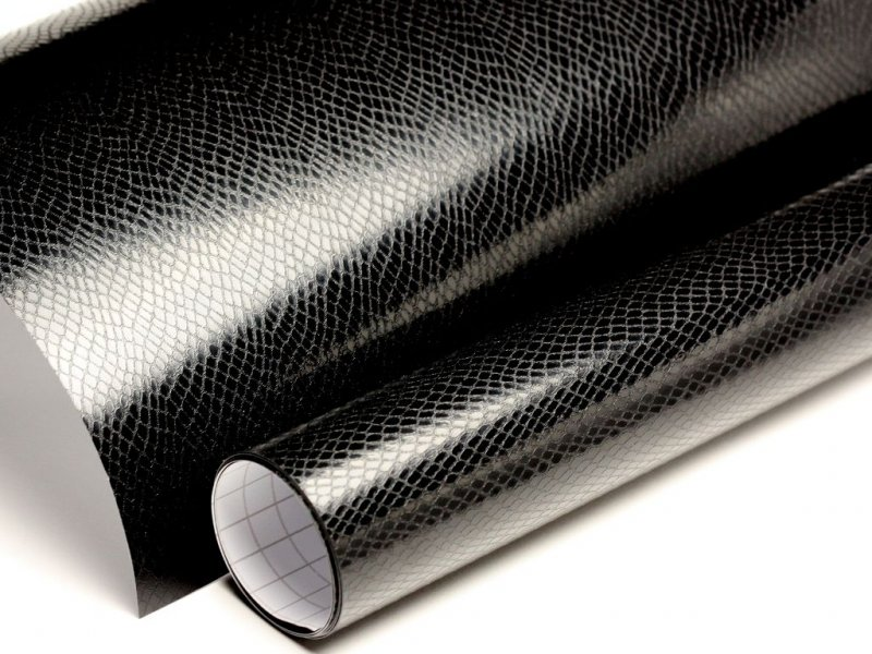 21 00 m auto folie schwarz boa schlangenhaut optik. Black Bedroom Furniture Sets. Home Design Ideas