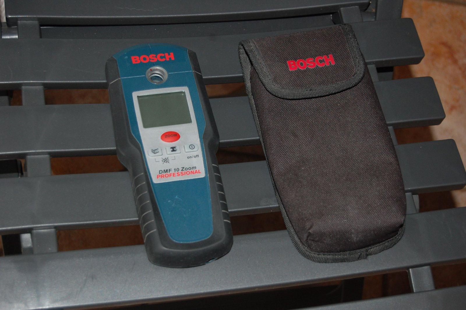 bosch dmf10 zoom metall / kabel detektor professionel mit tasche und
