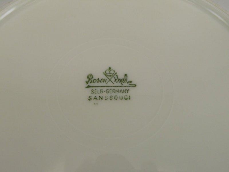 Suppenteller D 25 cm Rosenthal Sanssouci  elfenbeinfarben Poliergoldband 2992