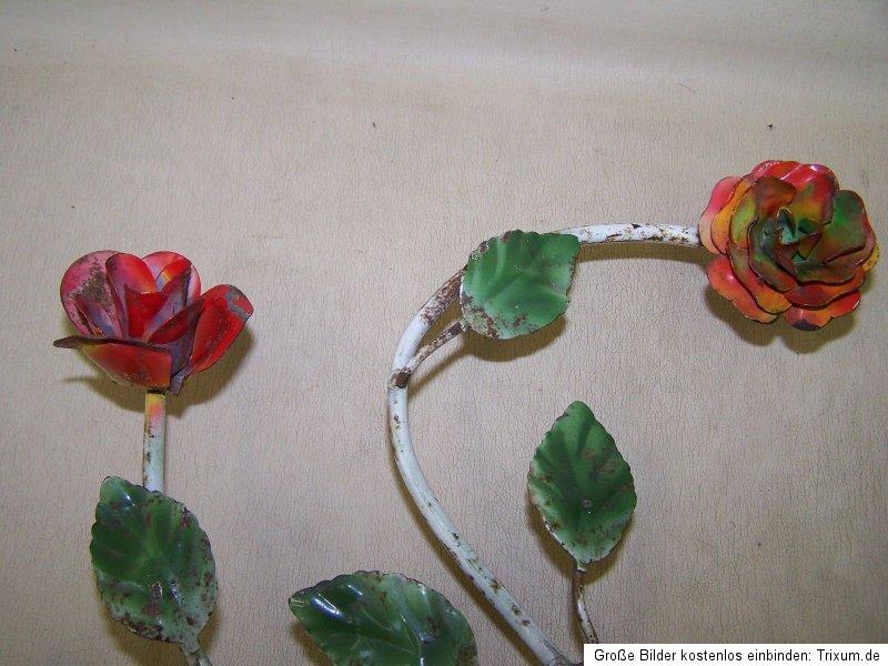 antique applique murale fleurs lampe avec roses culte r tro design ann es 50 ebay. Black Bedroom Furniture Sets. Home Design Ideas