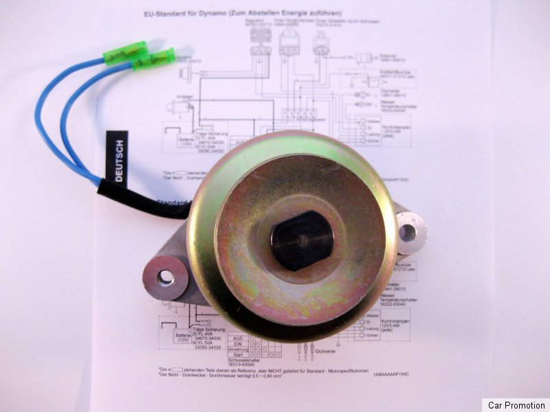 Lichtmaschine Dynamo Kubota NEU 90mm 15531-6401-3 inkl. Schaltplan ...
