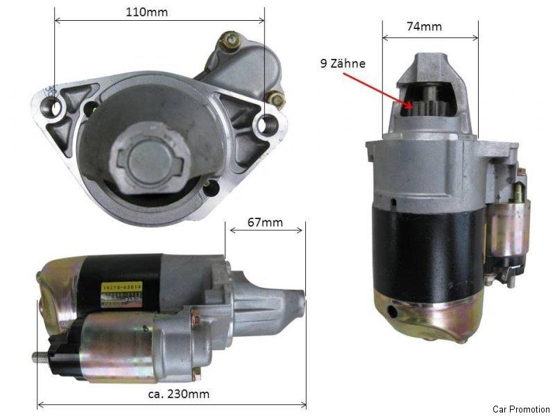 EA200 Neu Kubato Anlasser Starter 14278-63014 EA300 Denso 028000-7133