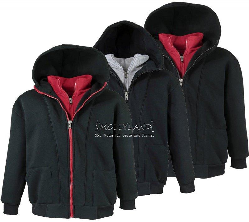 Details zu 2in1 Herren Sweatshirt Jacke Hoody LAVECCHIA Übergröße 3XL bis 8XL WOW