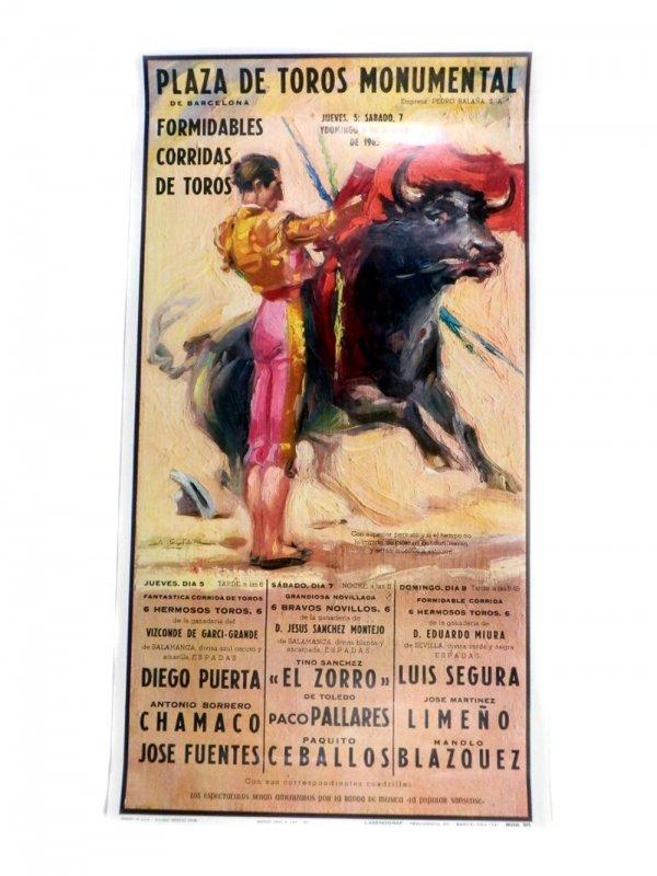 Tier Stierkampf Ornament Miniatur 46*13*21cm Schreibtisch Figuren Jahrgang