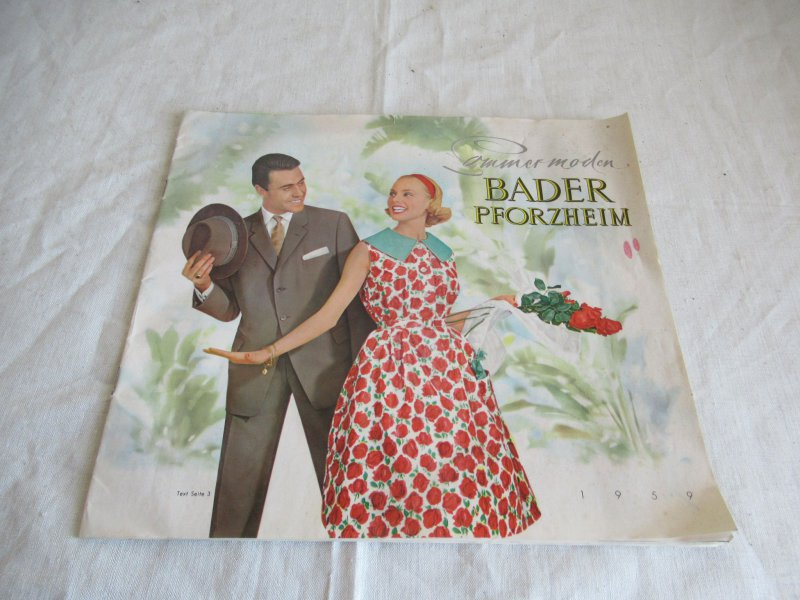 70179e5560 alter Versandhaus Katalog Mode Kleidung usw. 50er Jahre Bader ...