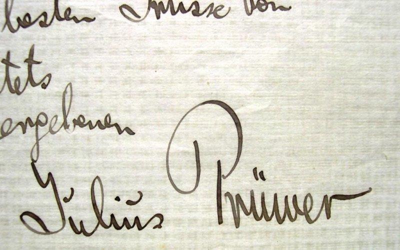Brief Von Otto : Otto röse brief von julius prüwer kunsthandel koskull