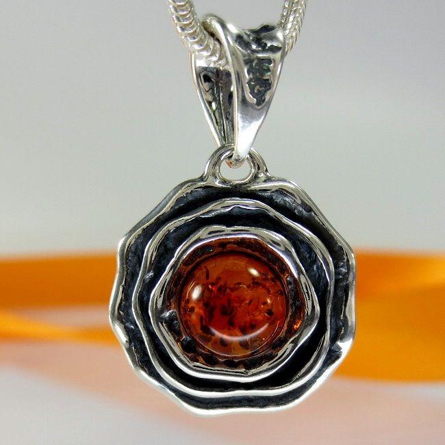 Größen A212 Damen Ring Blume Rose 925 Silber Schmuck mit Bernstein Amber versch
