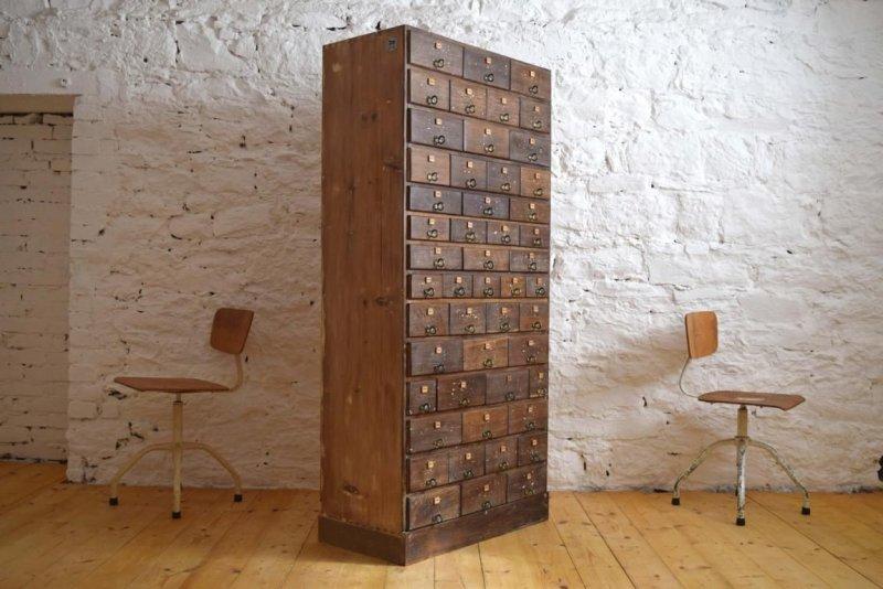 schubladenschrank 50 schubladen alt antik shabby loft vintage werkstattschrank ebay. Black Bedroom Furniture Sets. Home Design Ideas