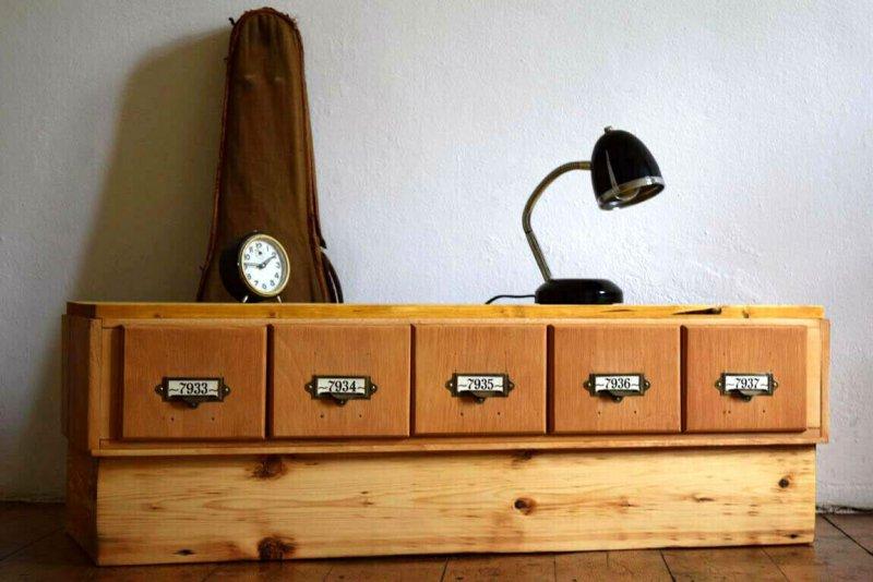 Sideboard Vintage Kommode Loft Schrank Schubladenschrank Anrichte Holzschrank