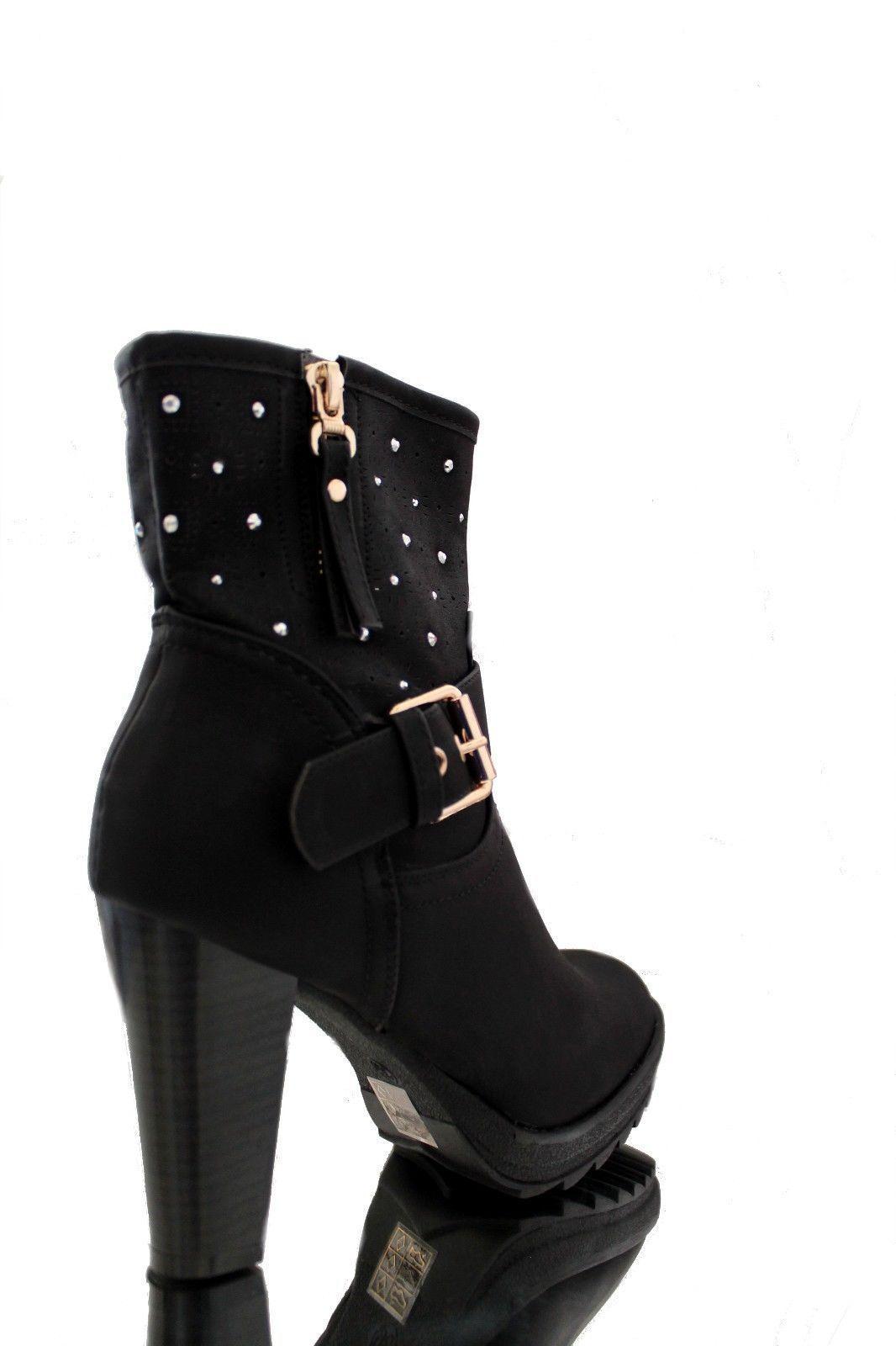 damen stiefel stiefeletten ankle boots high heels. Black Bedroom Furniture Sets. Home Design Ideas