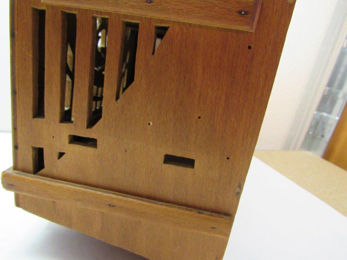 antikes wandschr nkchen aus holz eierschrank um 1900 ebay. Black Bedroom Furniture Sets. Home Design Ideas