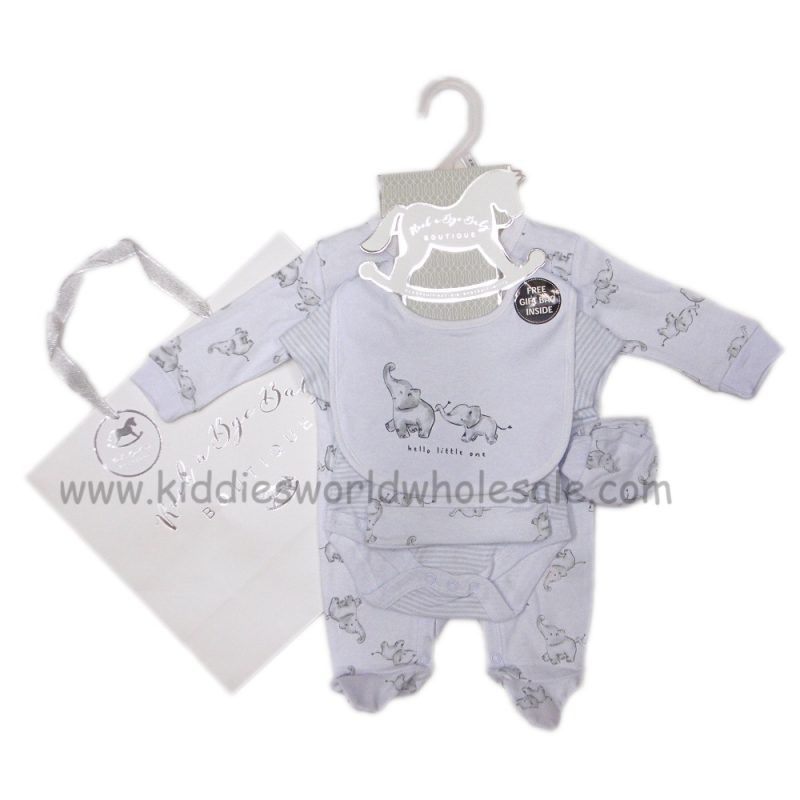 Baby Starterset Geschenkset Erstausstattung 4 Teile Englandsmode NEU