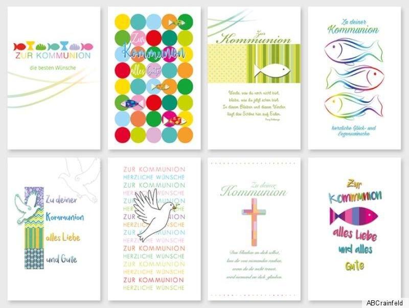 Blitzversand ab 19 ct Klappkarten viele Motive schöne Konfirmationskarten